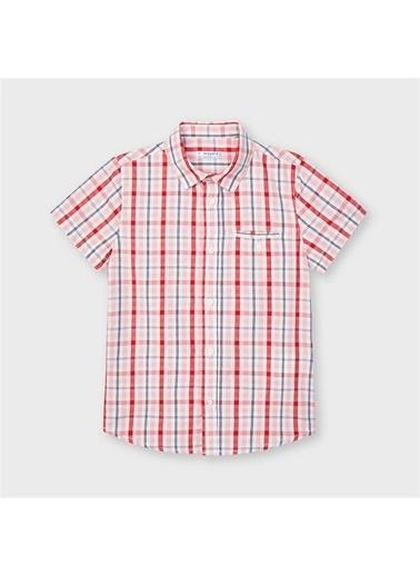 Mayoral Mayoral Erkek Çocuk Kisakol Ekose Gömlek Kırmızı 20288 Kırmızı